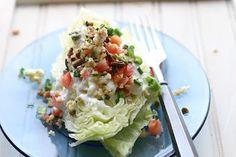 I love a good wedge salad! yum!   Wedge Salad with Smoky Blue Cheese Dressing via Cheeky Kitchen