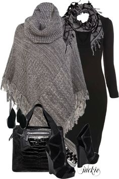 """The Poncho 2"" by jackie22 ❤ liked on Polyvore"