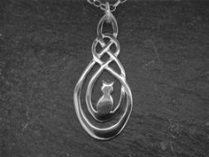 Silver Lost Cat pendant...website with stunning Welsh Celtic jewelry