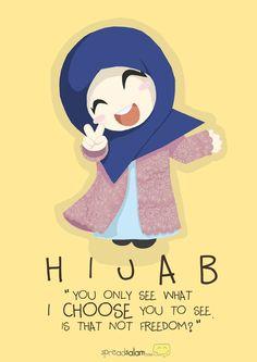 Hijab, my choice, my freedom.