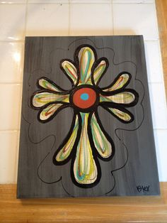 Cross painting on Etsy, $35.00