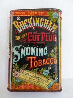 Buckingham Bright Cut Plug Smoking Tobacco Tin