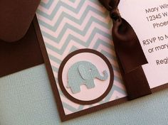 Handmade Boy Baby Shower Invitation with by kellylaurendesigns, $3.75