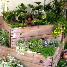 Great use for old wooden boxes