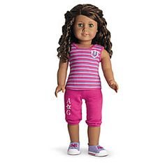 American Girl® Clothing: Campus Casual Outfit for Dolls + Charm