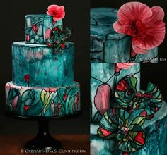 Cake Art In Elizabethton Tn : Stained Glass Cakes on Pinterest Stained Glass, Hand ...