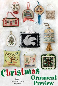 Christmas Ornament Preview from the Jul/Aug 2014 issue of Just CrossStitch Magazine. Order a digital copy here: http://www.anniescatalog.com/detail.html?code=AM53353