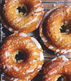 glazed donuts with lime + cardamom