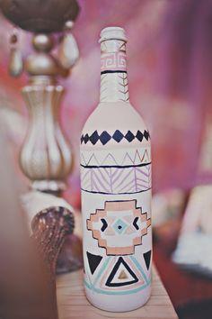 DIY painted bottle
