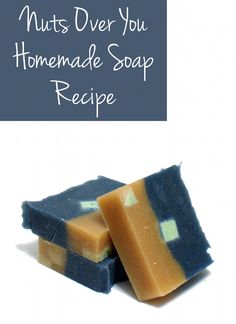 This Nuts Over You Homemade Cold Process Soap Recipe is all about nut oils! And you'd be hard pressed to get a homemade soap bar any nuttier than this one!