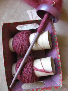 spinning yarn!