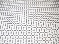 White Octagon and Dot tile with Gray Grout