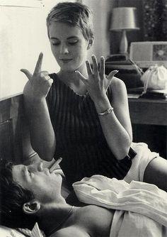 Jean Seberg and Jean-Paul Belmondo
