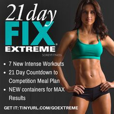 Did you love Autumn Calabrese's 21 Day Fix? Good news! Her brand new program – the 21 Day Fix EXTREME is coming out February 2, 2015! Get first access to 21 Day Fix EXTREME here Tinyurl.com/goextreme