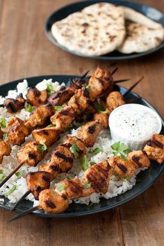 coriander chicken kebabs