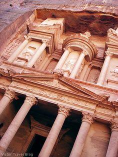 The Treasury. Petra in Jordan.