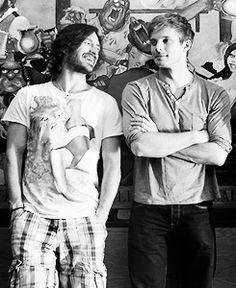 Bradley James and Eoin Macken  #Merlin <3