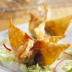 ❥ Chicken and Peach Wontons