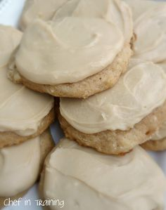 Applesauce Cookies with caramel frosting.