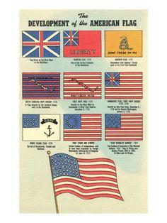 visual history of US flag