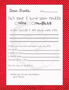 Great Letter to Santa!