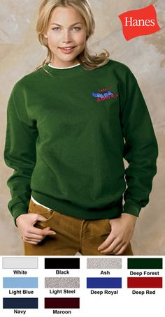 #hanes #cotton #crewneck #corporate #sweatshirts $20.72 Features: 90% cotton, 10% polyester; 100% cotton face; PrintPro XP patented low-pill high-stitch-density fabric; double-needle cover-seamed armholes and waistband; cuffs and waistband with spandex; double-needle cover-seamed neck; charcoal heather is 65% cotton and 35% polyester; 10-ounce.  http://ezcorporateclothing.com/custom/106-Crewneck-Sweatshirts/945-Hanes-Ultimate-Cotton-Crewneck/