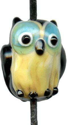 darling lampwork owl bead!