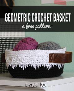 Geometric Crochet Basket Pattern free from Persia Lou