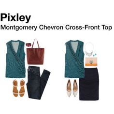 Montgomery Chevron Cross Front Top