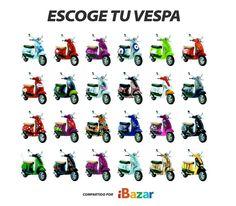 Más modelos de vespa en www.ibazar.com.mx