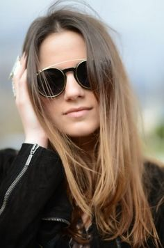Cool sunglasses and perfect hairs