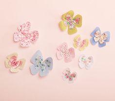 Stick-on Fabric Butterflies