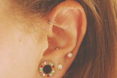 The Forward Helix + Anti-Tragus | 28 Adventurous Ear Piercings To Try This Summer