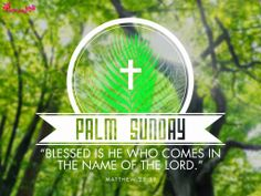 Palm Sunday Holy Week Best Wishes Quote Image