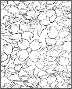 Creative Haven Floral Designs Color By Number Coloring Book, Dover Publications.  COLOR CHART:  1. light yellow; 2. yellow; 3. light orange; 4. orange; 5. red; 6. maroon; 7. light pink; 8. pink; 9. dark pink; 10. lavender; 11. purple; 12. dark purple; 13. light blue; 14. blue; 15. dark blue; 16. light green; 17. green; 18. dark green; 19. brown; 20. white