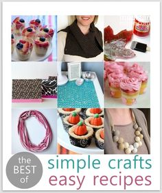 The Top Simple Crafts & Easy Recipes of 2012 at Madigan Made... loving these ideas!