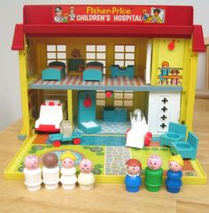 Vintage Fisher Price Hospital; My mom still has ours.