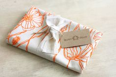 Dish Towel Tea Kitchen Linen Tangerine Orange by LaurenAlison, $18.00