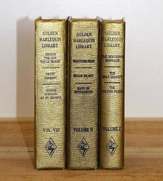 Romantic Gold Vintage Book Set by Jaysworld on Scoutmob Shoppe