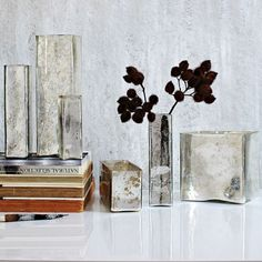 I die. West Elm Mercury Glass votives and vases. Love!