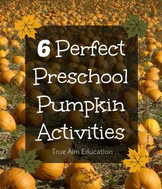 6 Preschool Pumpkin Activities including games, a craft, free printables and more!