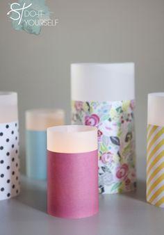 DIY: paper + vellum lanterns