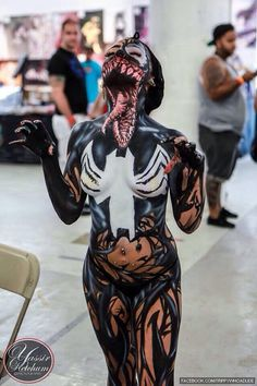 Female venom cosplay