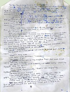 """Very early page of Philosopher's Stone written around 1991 and showing plot-line that was abandoned. Would have changed everything!"" -- J.K. Rowling"