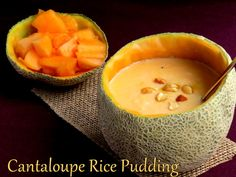 Cantaloupe Rice Pudding