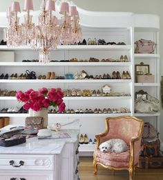 Walk-in-closet for a #fashionista of any sort.