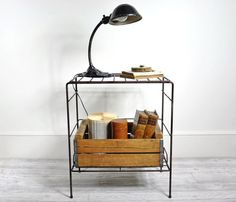 Wire Table with Shelf.