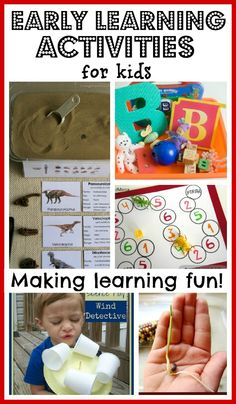 FUN Early Learning Activities for Kids!