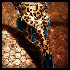 Hand Painted Deer Skull, $145.00 email me for order melissafpd@gmail.com