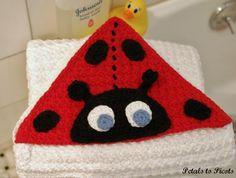 Ladybug Hooded Baby Towel